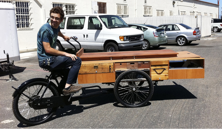 jesse test riding the trike